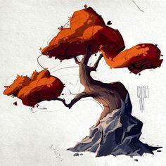 Trees by Anastasia Walker on ArtStation.