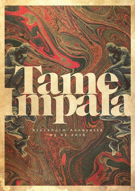 Un proyecto de lacabezaenlasnubes Tame Impala Gig poster Impala Gig poster 0 Typography Poster, Music Poster, Tame Impala, Poster Design, Picture Collage Wall, Music Festival Poster, Art Collage Wall, Gig Posters Design, Poster Wall