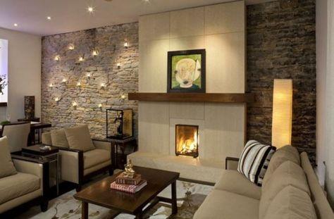dekoideen im wohnzimmer wohnzimmer mit natursteinwand yodotcom - wohnzimmer deko steinwand