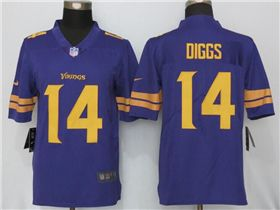 hot sale online 0e3d5 7a84e Minnesota Vikings #14 Stefon Diggs Purple Color Rush Jersey ...