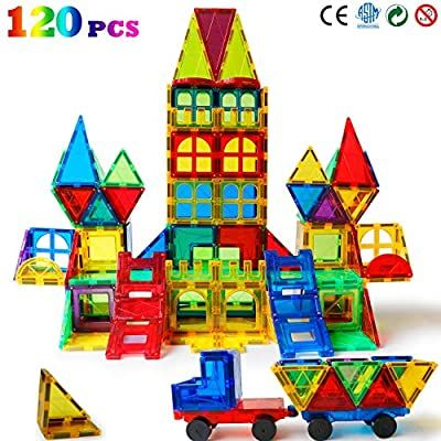 Amazon Com Magblock 120 Pcs Magnetic Blocks Magnetic Tiles Building Blocks For Kids Toys丨magnet Toys Set In 2020 Kids Building Toys Kids Blocks Building Blocks Kids