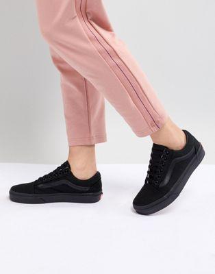 Vans | Vans Classic Old Skool Sneakers In All Black ...