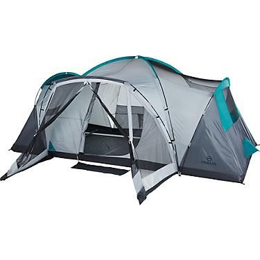 Magellan Outdoors Cumberland 10 Person Family Cabin Tent With Screen Porch And Lights Academy In 2020 Cabin Tent Tent Screened Porch