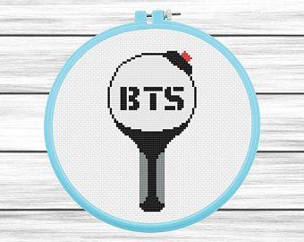 BTS Lightstick Embroidery Hoop