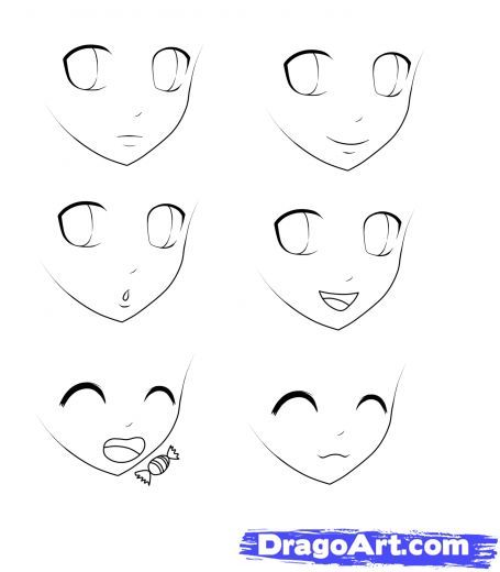 Step 5 How To Draw Anime For Kids Drawing Cartoon Faces