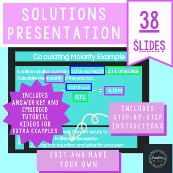Teach Solutions Solubility Curves And Calculating Concentrations With This Powerpoint Presentation This Presentation Distance Learning Solutions Solubility
