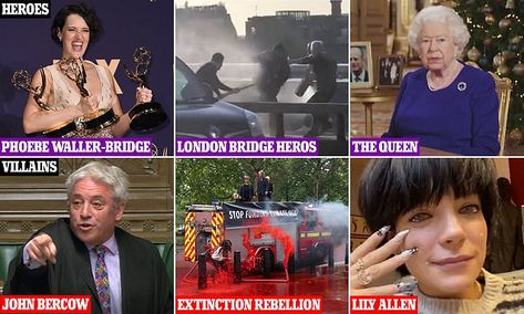 Celebrity Party: My heroes and villains of the year: JAN MOIR's annual reckoning (and Bercow should know which he is)