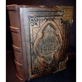 Prächtig, seltene antike Familien Bibel - Matthew Henry, London 1878