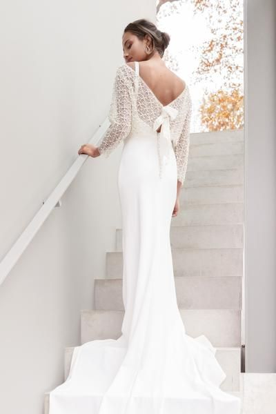Bentley Coverup Ivory Pearl And Crystal Encrusted Ballet Neck Deep V Neck Back Sheer Tulle Evenin Wedding Dresses Beautiful Gowns Bridal Accessories Wedding