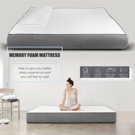 12 inch Memory Foam Mattress King Size Ergonomic Comfortable