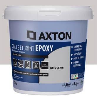 Colle Et Joint Epoxy Axton Mur Et Sol Gris Clair 2m 5kg Epoxy Joint Faience Joint