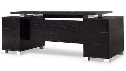 Ford Black Wood Executive Desk Modern Contemporary Office Zuri Furniture Black Desk Office Furniture Modern Cheap Office Furniture