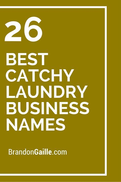 401 Best Catchy Laundry Business Names Laundry Business Laundry