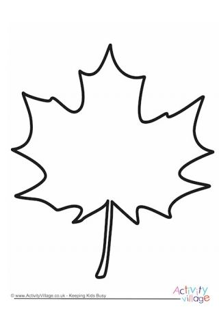 Leaf Printable Coloring Pages Leaf Template Fall Leaves