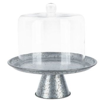 Galvanized Metal Domed Cake Stand Cake Stand With Dome