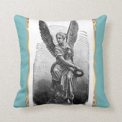Angel Statue Throw Pillow Zazzle Com Throw Pillows Pillows White Elephant Gifts Funny