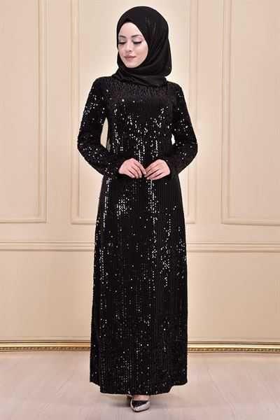 Modamerve Pullu Tesettur Elbise Modelleri Moda Tesettur Giyim 2020 Elbise Modelleri Elbise Moda Stilleri