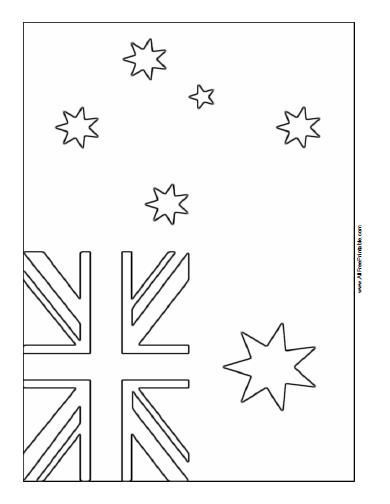 Printable Australia Coloring Free Flag Pagefree Printable