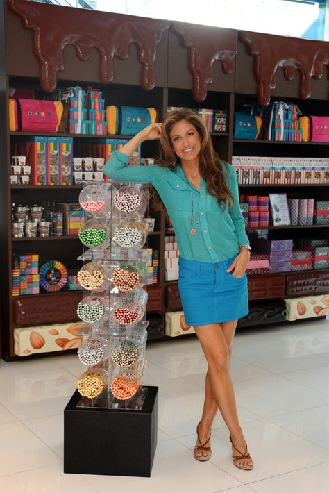 This is Ralph Lauren's daughter named Dylan Lauren. She ownes her own candy shop in NY