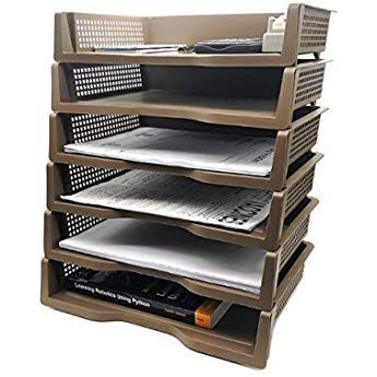 Stackable Desktop Document Letter Tray Organizer Accessories Paper Tray Multi Layer File Sorter Storage Paper Holder Br Shoe Rack Studio Organization Storage