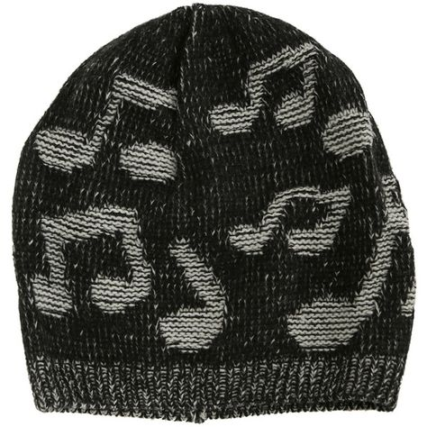 45a5492afbe Music Notes Knit Beanie Hot Topic ( 10) ❤ liked on Polyvore featuring  accessories