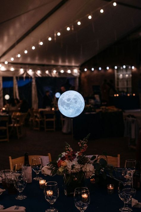 This astronomer's celestial-inspired wedding is literally out of this world Dyer Observatory navy blue tuxedos space constellations stars astronomy telescope