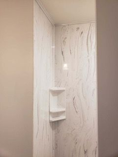 Cultured Marble Custom Shower In