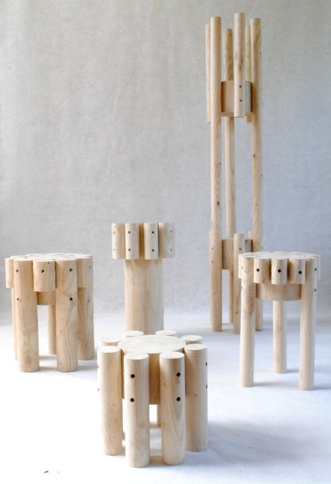 Log auxiliaires de vie stool-tools, tabourets, bouts de ...