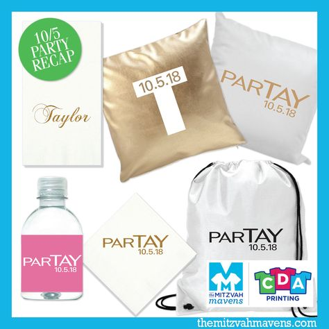 Oh yes! Here's just a small sampling of a coordinated suite of party favors we put together for Taylor's big day this past weekend. # batmitzvah #celebration #partyfavors #partyplanning #guestgifts #themitzvahmavens