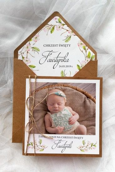 11 Fotoeco Z Handmade Invitations Dedication Invitations Baby Cards