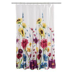 World Menagerie Aidan Boho Bouquet Single Shower Curtain Wayfair