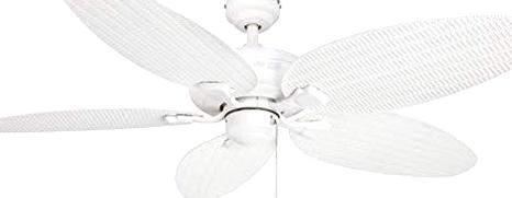 Honeywell Duvall 52 Inch Tropical Ceiling Fan Five Wet Rated Wicker Blades Indooroutdoor White Amazon In 2020 Tropical Ceiling Fans Ceiling Fan Duvall