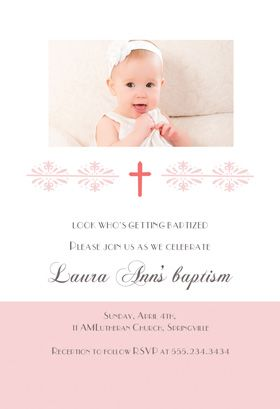Free Printable Baptism Christening Invitation