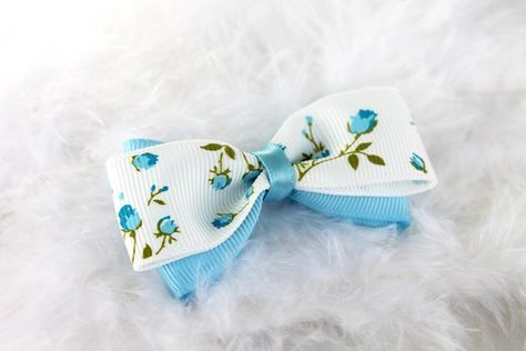 hair bows ribbon girl accessories head clips turquoise blue