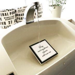 キャンドゥのタイルでタンク付きトイレの洗面ボウルをワンランクアップ 洗面ボウル キャンドゥ トイレのアイデア