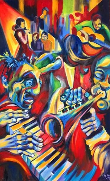 Saatchi Art Artist Cecilia Ferreira Painting The Jazz