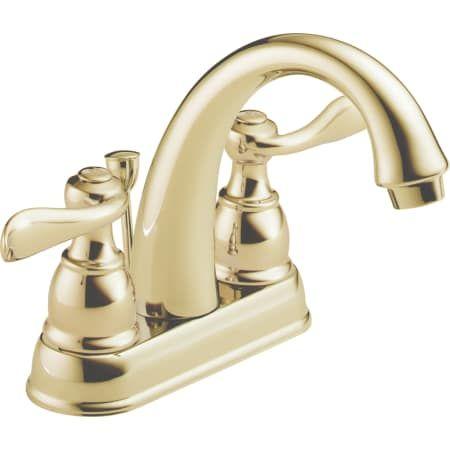 Delta B2596lf Pb Windemere Centerset Bathroom Build Com Delta Faucets Bathroom Faucets Sink Faucets Delta polished brass bathroom faucets