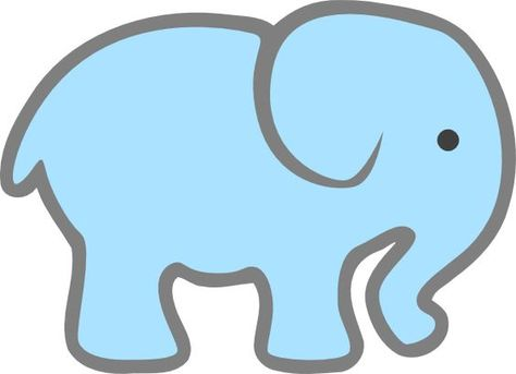Elephant Face Template Printable Lt Blue Baby Elephant clip art