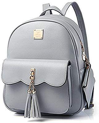 Vintage Women Canvas Backpack Tassel Rucksack Handbag Schoolbag Satchel Tote