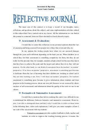 Reflective Journal Unit 1 Reflective Journal Reflective
