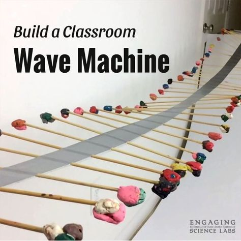 Teaching sound and waves in your classroom? This machine is super cool, easy, and cheap to make! See how wave energy travels down the machine. Study reflection, wavelength, and frequency. This is just one of the activities we do in our middle school scien