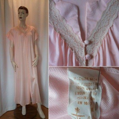 Till salu Vintage retro blåmönstrad blommig klänning från