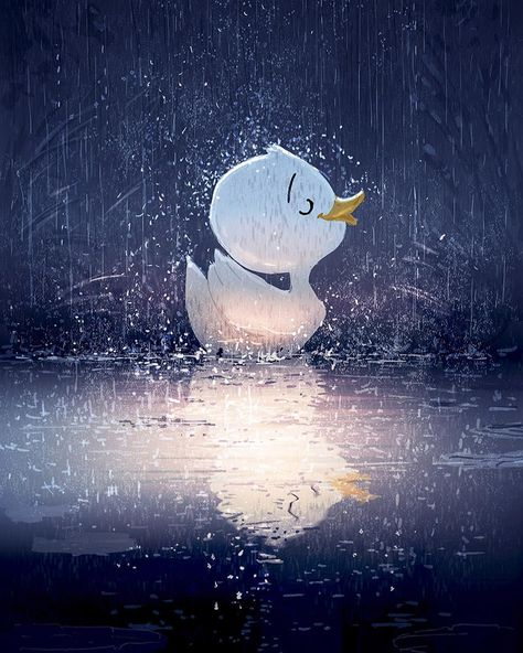 """Pascal Campion Art (@pascalcampionart) on Instagram: """"It's pouring and raining and I don't care #pascalcampion #pascalcampionart #sketchoftheday #ducks…"""""""