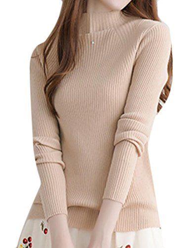 Qiangjinjiu Mens Sweater Knitted Slim Fit Turtleneck High Neck Top Pullover Dark Grey M