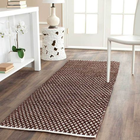 Boston Americana Brown Runner Rug Rugs Contemporary Rugs Casual Living Rooms