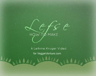How to make lefse, the Scandinavian Christmas specialty. Step-by-step video, recipe, tips from expert lefse maker LeAnne Kruger. Best Recipes 2014 from #AVeggieVenture
