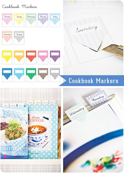 Marcadores de libros de cocina - para imprimir gratis
