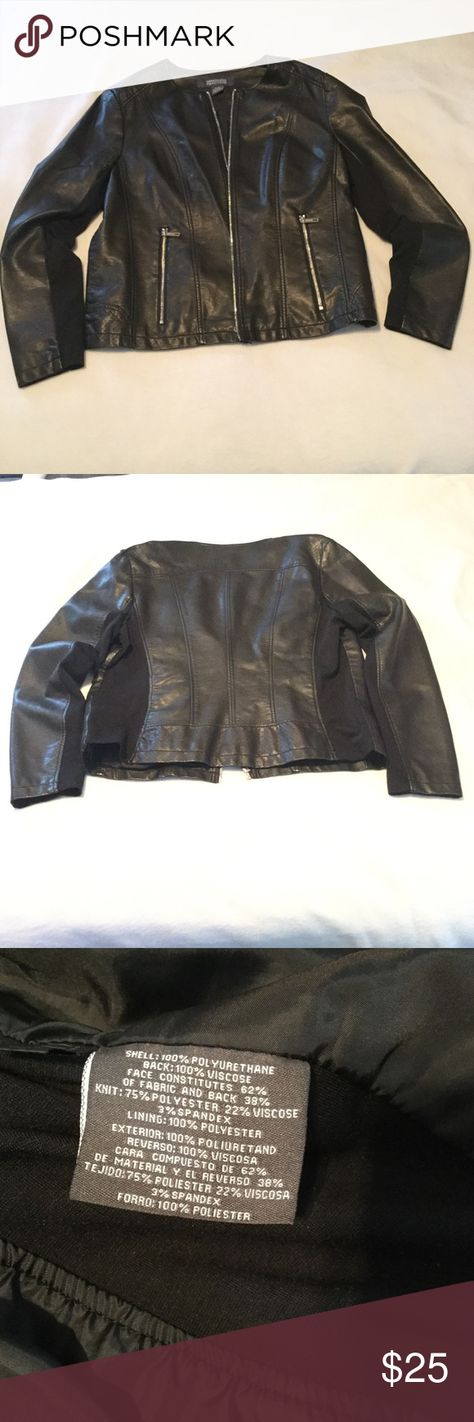 Kenneth Cole Reaction pleather jacket, size XL Kenneth Cole Reaction pleather jacket, size XL  Zipper closure (front and pockets) Like new condition Kenneth Cole Reaction Jackets & Coats