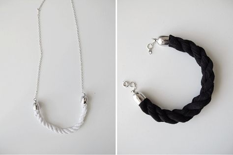 DIY three strand braid bracelet and necklace by Design And Form