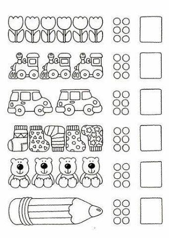 26 Ejercicios Para Aprender A Contar Relacion Numero Ca Actividades De Matematicas Preescolares Ejercicios Para Preescolar Matematicas Para Jardin De Infantes